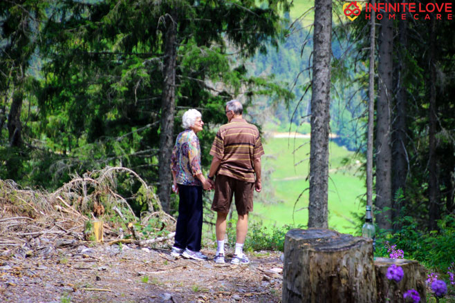 Old Couple in Nature